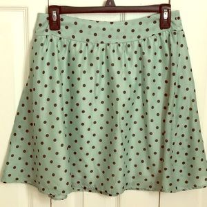 Mint Green Polka Dotted Skirt